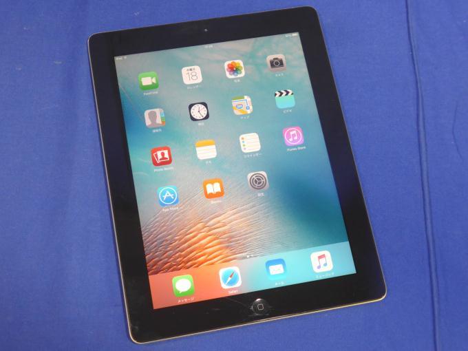 iPad 2 Wi-Fiモデル 16GB MC769J/A [ブラック]ガラス面割れアリ